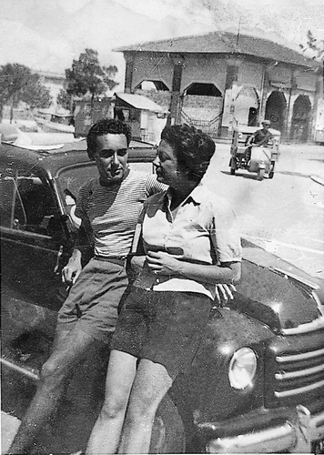 Marcella Polini and Victor Hazan in 1952, in her hometown of Cesenatico, Italy, shortly after they met. Photo: Gotham Books