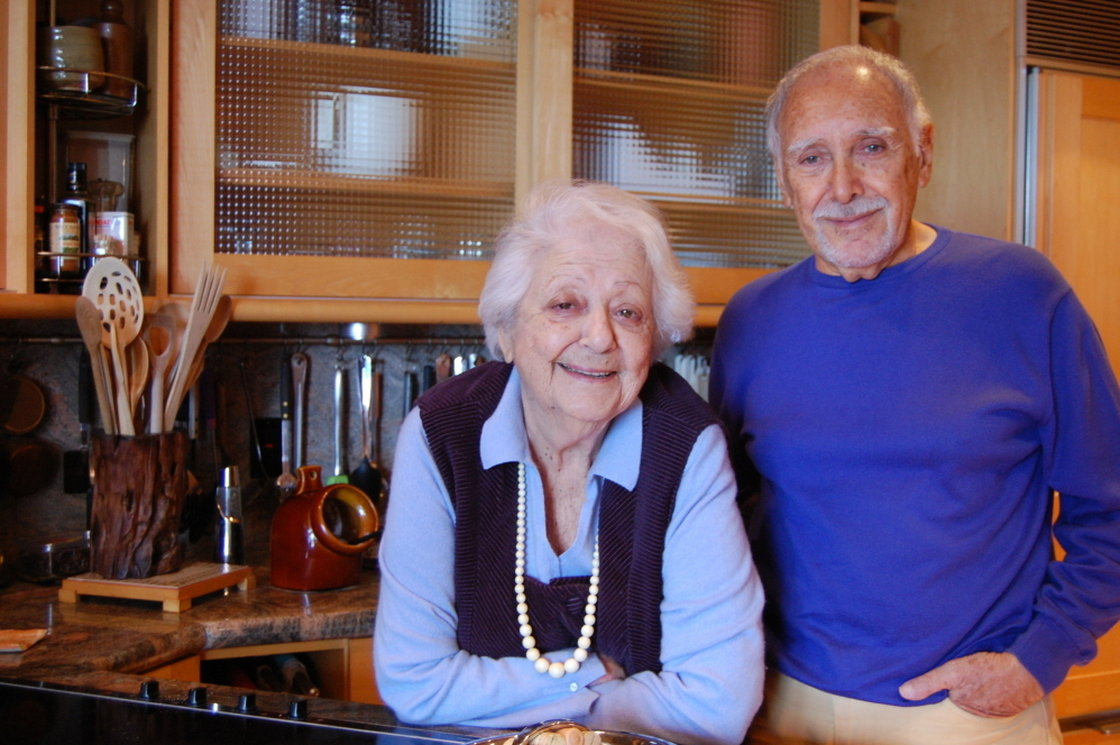 Marcella and Victor Hazan in the kitchen of their home in Longboat Key, Fla. Photo: Laura Krantz/NPR