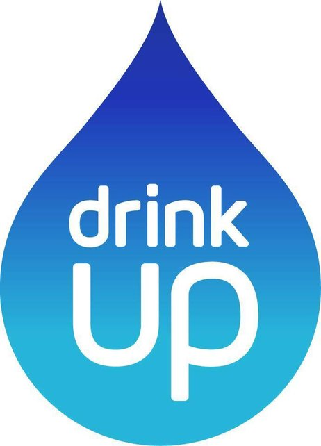 The Drink Up logo will appear on bottled water, outdoor taps and reusable bottles. Image: Partnership for a Healthier America