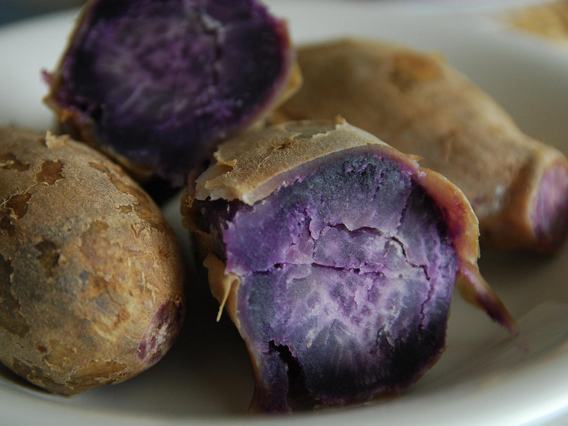 "Food chemists say that pigments from purple sweet potato are becoming a ""natural"" alternative to synthetic food dye. Photo: avlxyz/Flickr"