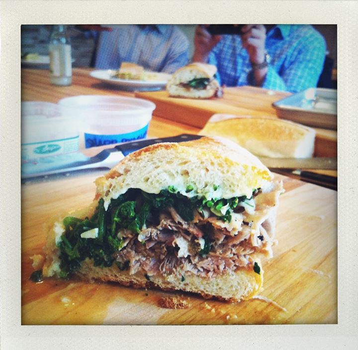 Roast pork Arista sandwich. Photo courtesy of Merigan Sub Shop