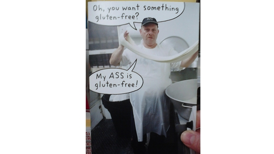 The Hallmark card is supposed to be humorous, but many feel offended. Photo: Jacqueline Fogarty