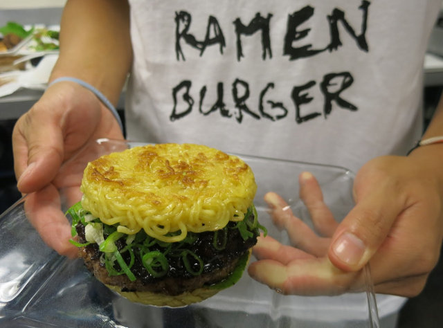 The Ramen Burger. Photo: sneurgaonkar/Flickr
