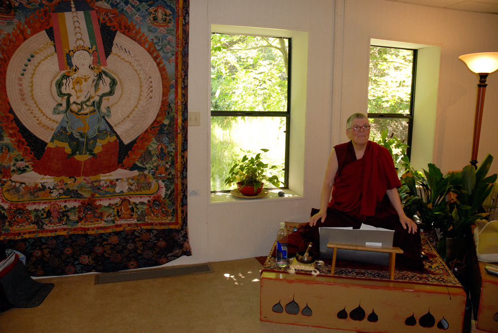 The Venerable Jampa Sangmo at Spirit Rock. Photo: Wendy Goodfriend