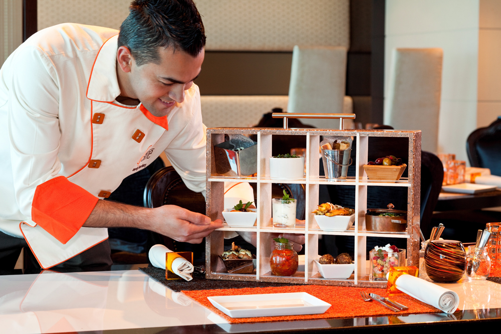 Qsine's standing drawer as featured on Top Chef. Photo courtesy of Celebrity Cruises