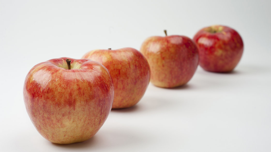 The just-released Riverbelle is one of well over 100 new apple varieties to hit markets around the world in the past six years. Photo: Courtesy of Honeybear Brands