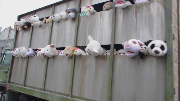 Banksy's Latest Work Takes On The Meat Industry ... With Puppets