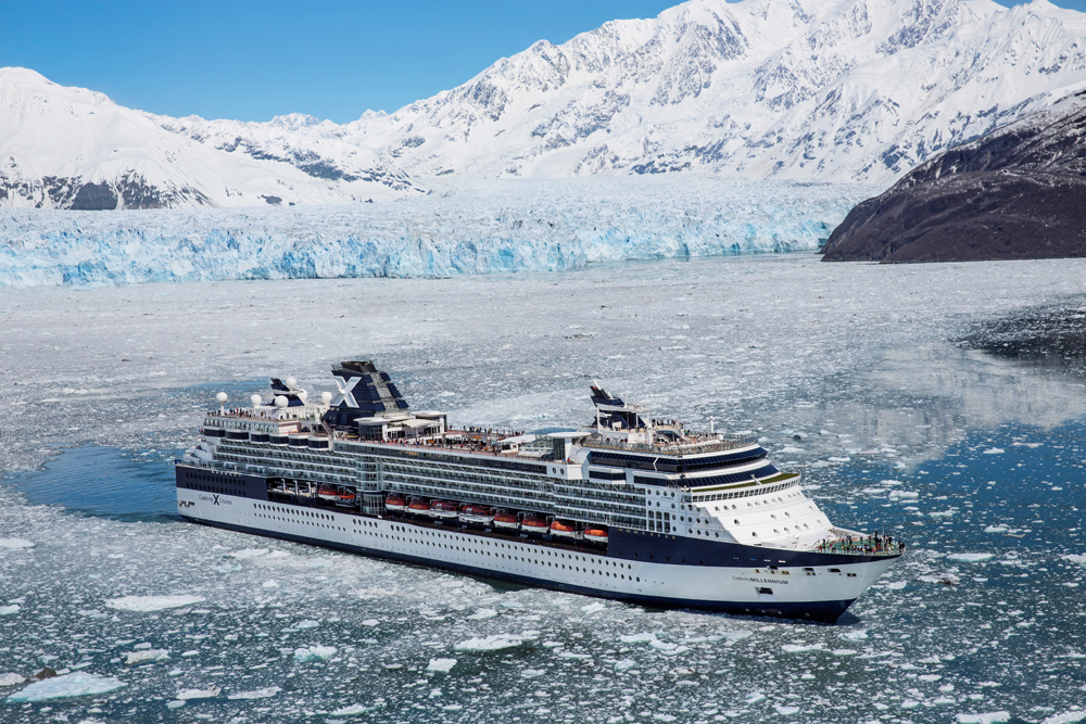 The Celebrity Millennium in Alaska. Photo courtesy of Celebrity Cruises