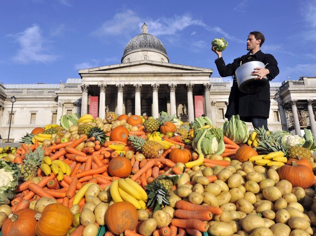 Tristram Stuart, founder of Feeding the 5000, is helping to organize several disco soup events across Europe for World Food Day. Photo: Courtesy of Feeding the 5000