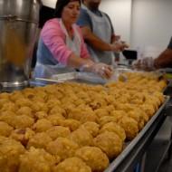 Cooks prepare ladoo to celebrate Ganesha. Photo: Wendy Goodfriend