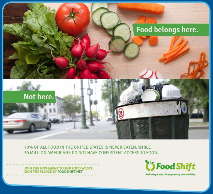 Educating people about food waste is one of the most important steps in recovering the wasted food. Photo: Food Shift