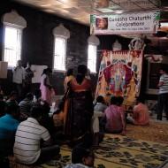 Ganesha Chaturthi Celebrations inside the temple. Photo: Wendy Goodfriend