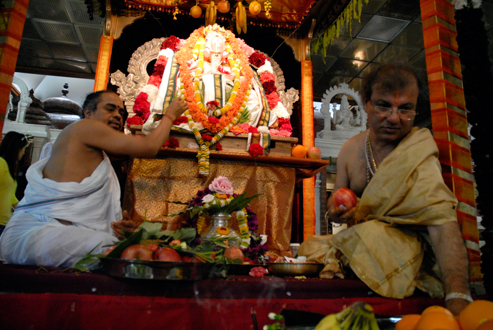 Ceremony worshipping Ganesha. Photo: Wendy Goodfriend