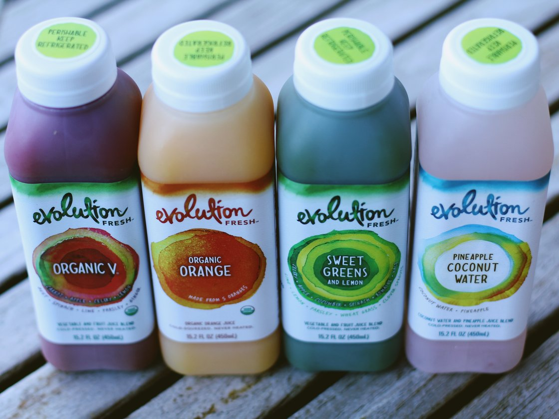 Starbucks'-owned Evolution Fresh says its method of processing juice delivers more of the flavor and nutrients of raw fruits and vegetables. Photo: Courtesy of Starbucks