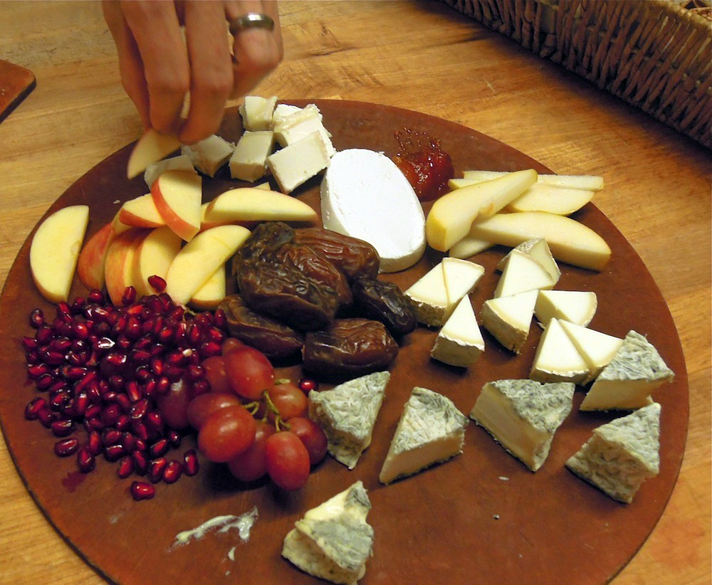 Goat cheese platter, Berkeley Cheeseboard Collective. Photo: Anna Mindess