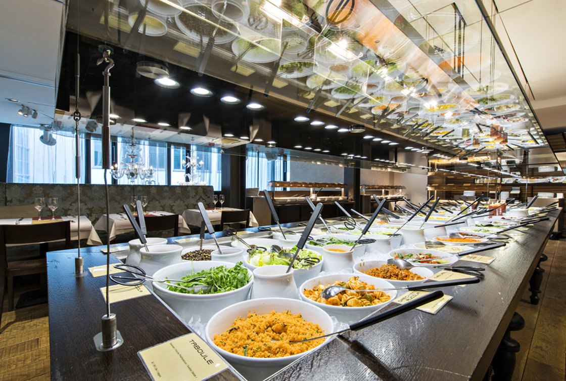 Today, Hiltl's features more than 100 items on its vast buffet and covers three floors, with seating for 500. Photo: Gian Giovanoli/Courtesy Hiltl