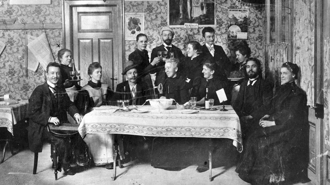 This gang founded Zurich's Vegetarians' Home and Teetotaller Cafe in 1898. Ambrosius Hiltl bought the joint and changed the name in 1903. Photo: Courtesy Hiltl