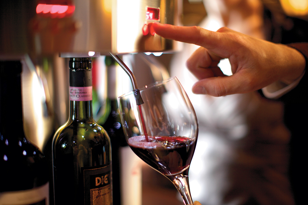 Wine by the ounce, available 24 hours a day. Photo courtesy of Celebrity Cruises