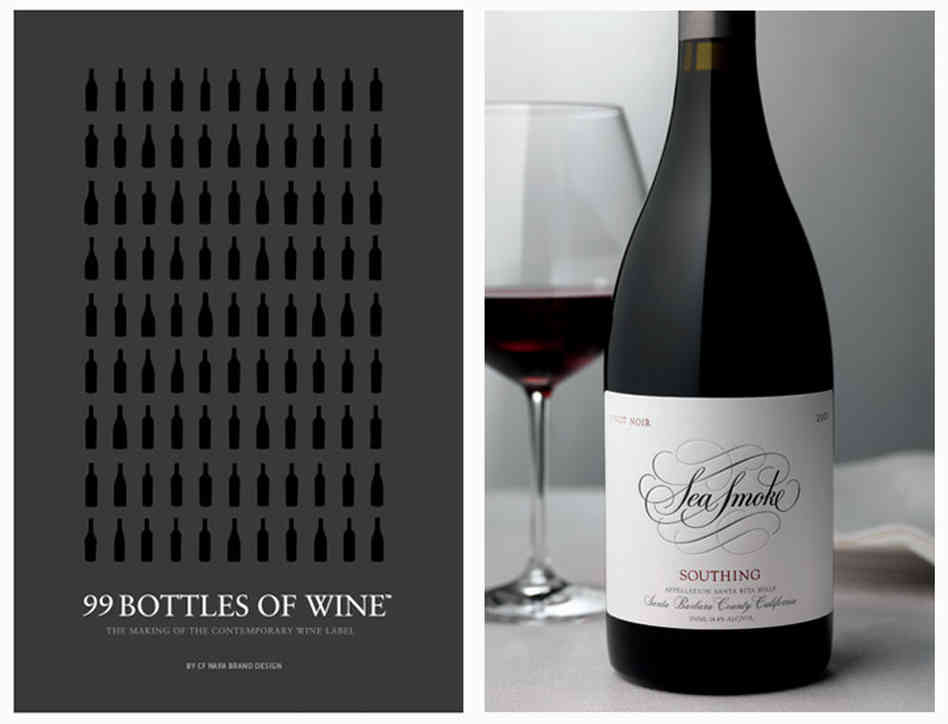 "David Schuemann says he wrote <em>99 Bottles of Wine</em> as a ""how to"" for label makers. What's one of his favorites? Sea Smoke's pinot noir, which beautifully illustrates how a simple logo against a white background makes a wine look sophisticated and first class. Photo: Tucker & Hossler/Courtesy of CF Napa Brand Design"