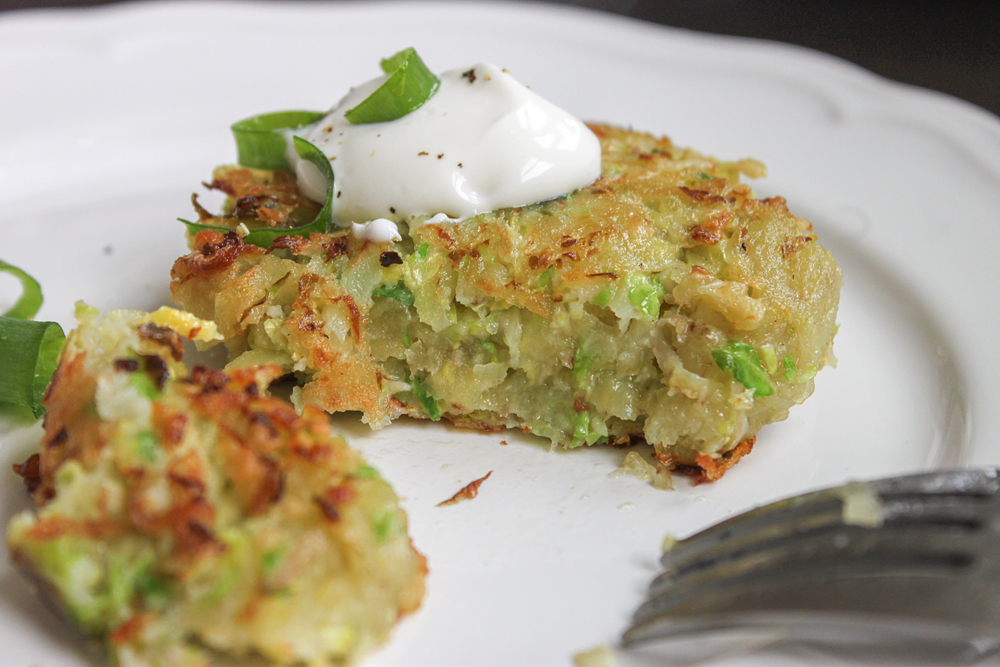 Brussels Sprouts Latkes. Photo: Jerry James Stone