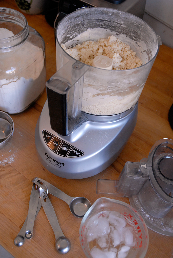 Use a food processor to mix the ingredients for the dough. Photo: Wendy Goodfriend