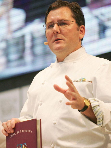 Chef Charlie Trotter, who helped to revitalize Chicago's culinary reputation, has died at age 54. He's seen here at the 2006 International Gastronomy Summit in Madrid. Photo: Pierre-Philippe Marcou/AFP/Getty Images