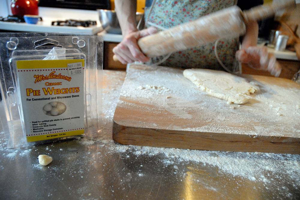 Sprinkle a work surface with flour. Using a lightly floured rolling pin, roll out the dough from the center to the edges. Photo: Wendy Goodfriend