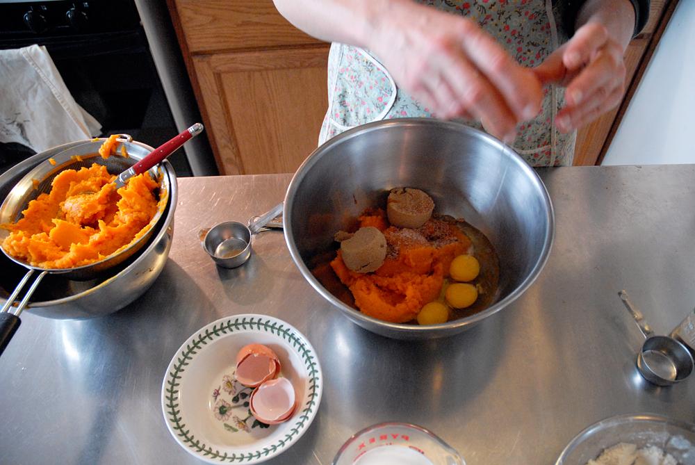 Add the eggs. Photo: Wendy Goodfriend