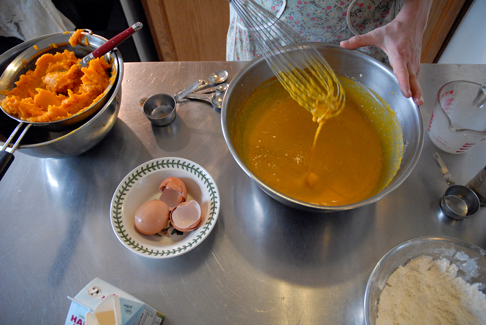 Mixture should be fully blended before pouring into pie shell to bake for about 45 minutes. Photo: Wendy Goodfriend