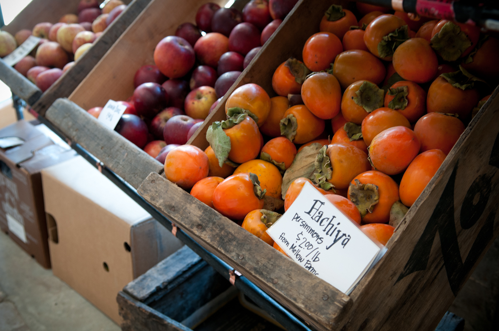 Apples and Persimmons. Photo: Naomi Fiss