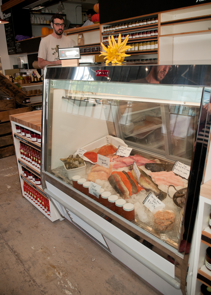 The fish case at the Local Mission Market. Photo: Naomi Fiss