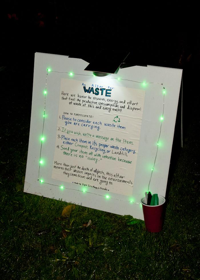 Waste altar. Photo: Naomi Fiss