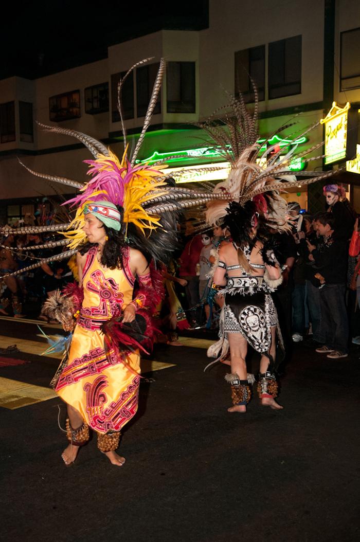 Aztec dancers. Photo: Naomi Fiss