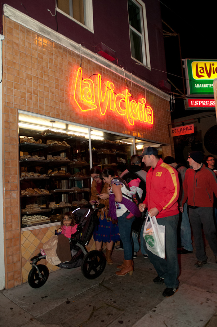 Outside La Victoria bakery. Photo: Naomi Fiss