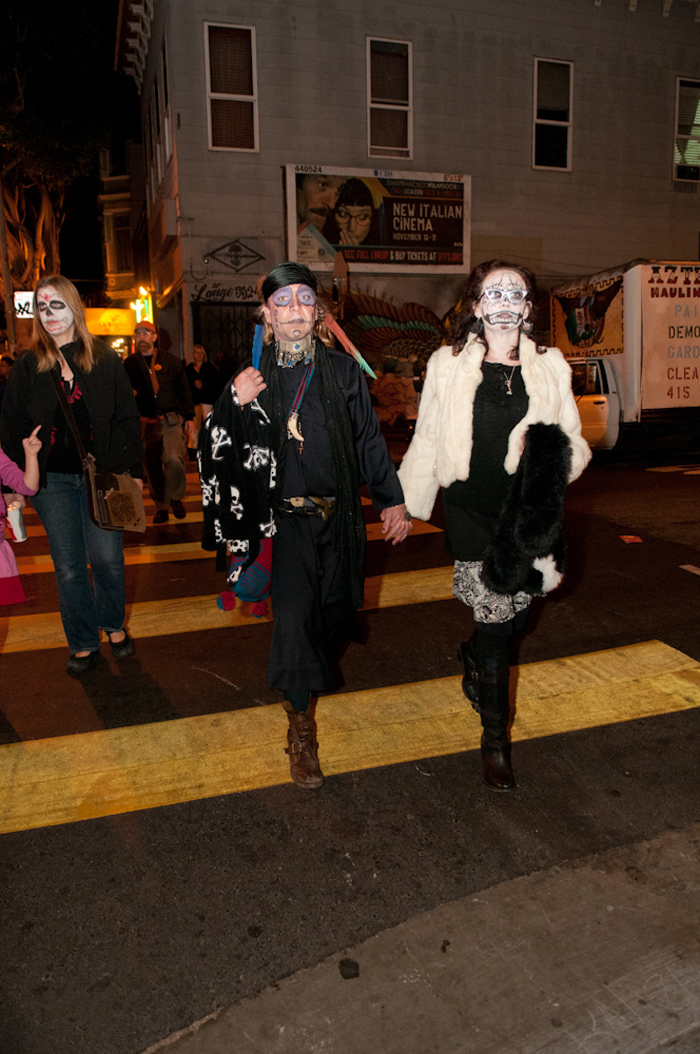 Day of the Dead street goers. Photo: Naomi Fiss