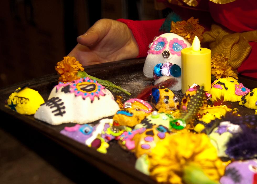 Sugar skulls close-up. Photo: Naomi Fiss