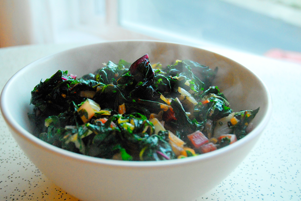 Sauteed Winter Greens with Add-Ins. Photo: Wendy Goodfriend