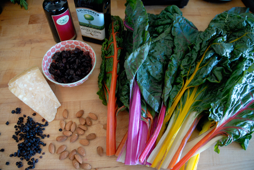 Ingredients for sauteed greens. Photo: Wendy Goodfriend