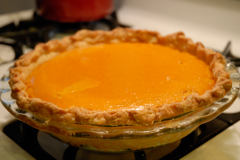 Pie is done when slightly puffed and set, the center a little jiggly, crust browned. Photo: Wendy Goodfriend