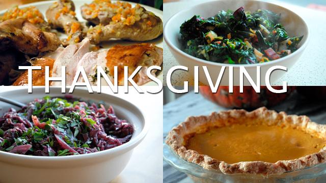 Bay Area Bites Thanksgiving Menu
