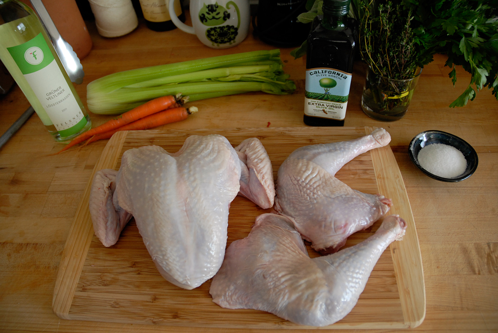 Separated turkey pieces. Photo: Wendy Goodfriend