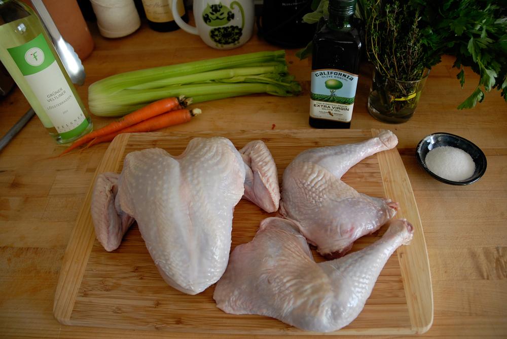 Separated turkey pieces. Photo: Wendy Goodfriend