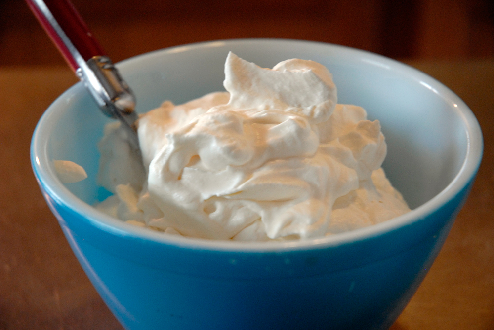 Spoon whipped cream into a bowl and serve. Photo: Wendy Goodfriend