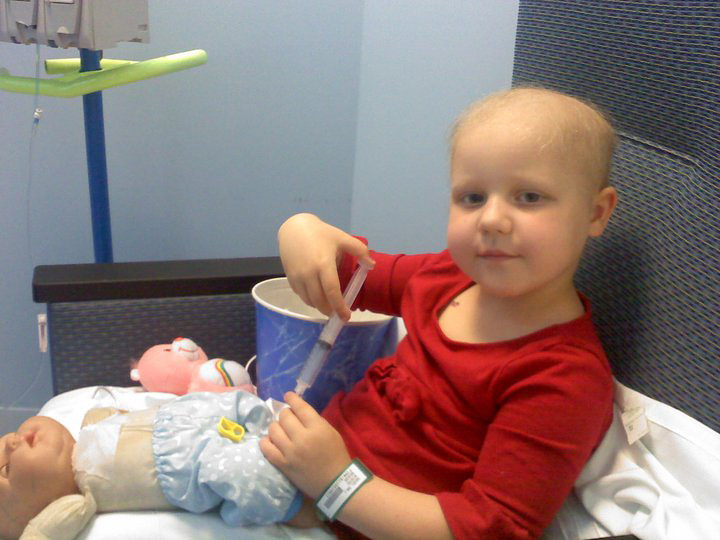 Emma's last chemotherapy session June 2012. Photo courtesy Leigh Anne Marchesi