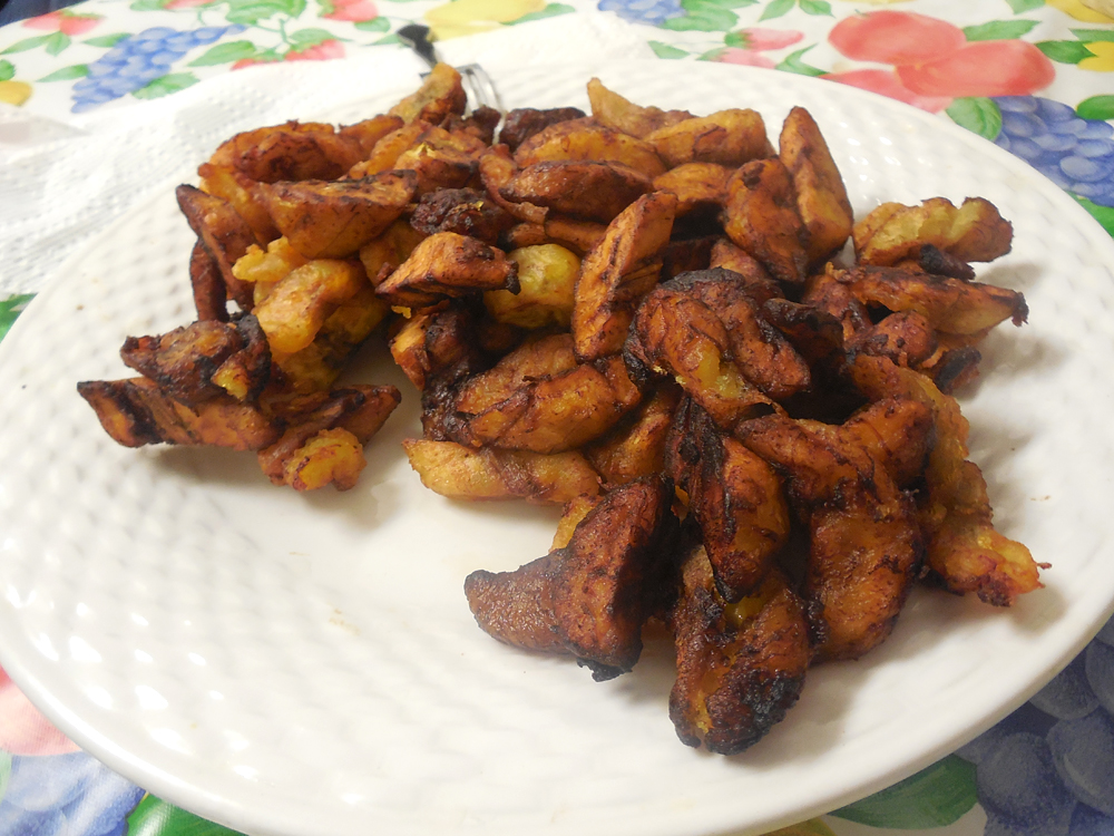 Patience Wilson says there's an art to frying plantains – you want to make sure they're brown and crispy on the outside while still being sweet and chewy on the inside. Photo: Shuka Kalantari
