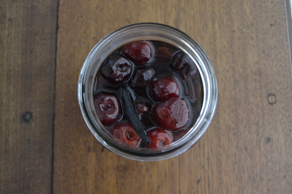 These maraschino-style cherries are made with affordable Bing cherries, sugar, brandy, vanilla, and almond extract. Photo: Kate Williams