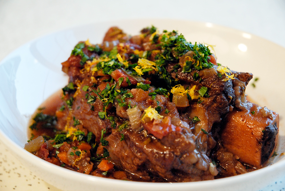 Braised Short Ribs with Gremolata. Photo: Wendy Goodfriend