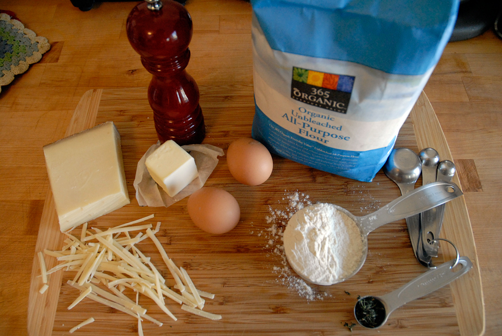 Herb & Gruyere Gougères ingredients. Photo: Wendy Goodfriend