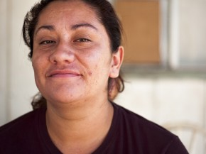 Jessica Ortiz often worries about what to feed her family. Photo: Scott Anger/KQED