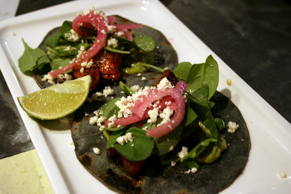 Bar Crudo fish tacos. Photo: Lauren Sloss